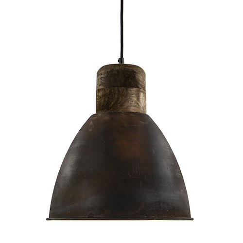 Landelijke hanglamp roest bruin Metaal