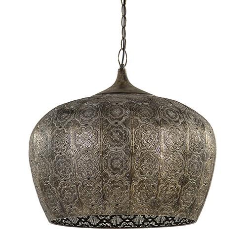 Oosterse hanglamp bruin/goud metaal