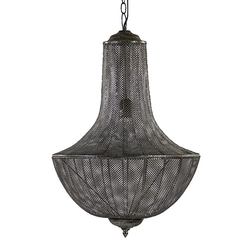 **Antiek zilveren hanglamp-kroonluchter
