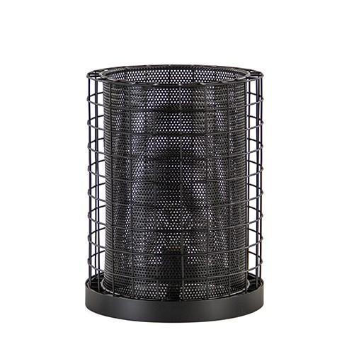 Cajana tafellamp mat zwart metaal