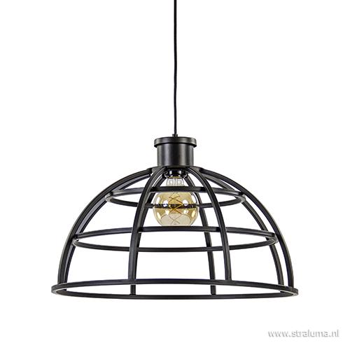 Metalen hanglamp Irini zwart industrieel