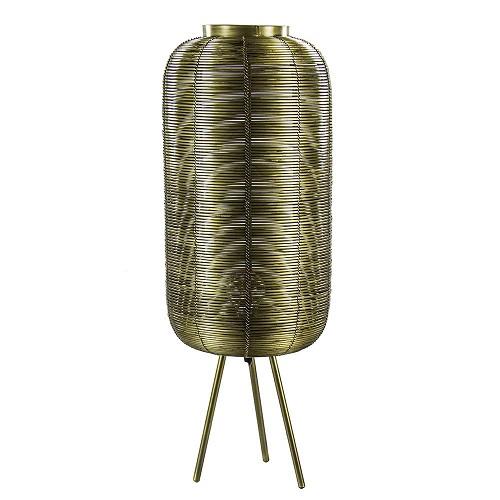 Driepoot tafellamp Tomek antiek brons