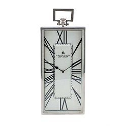*Romantische klok London oud zilver