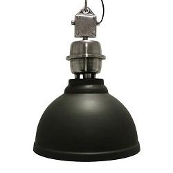 Stoere industriele hanglamp antraciet