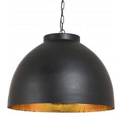 Hanglamp Kylie XL koepel zwart/goud