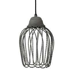 Hanglamp beton-look Bettina wc-hal-bar