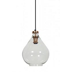 **Trendy hanglamp Ilze koper-glas