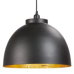 Hanglamp Kylie buiten zwart binnen goud