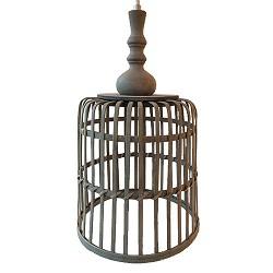 *Landelijke hanglamp mand slaapkamer