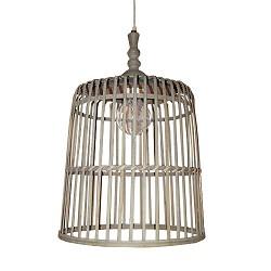 *Landelijke hanglamp Malakka mand groot