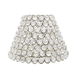 *Romantische lampenkap kristallen Ramona
