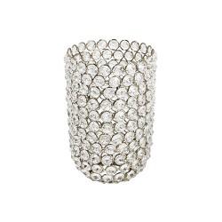 Kristallen lampenkap zilver Ramona