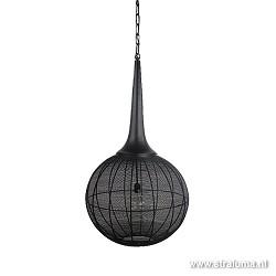 Zwarte draad hanglamp bol XL