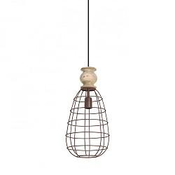 Hanglamp landelijk hout druppel