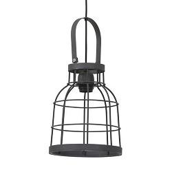 *Industriele draadhanglamp metaal klein
