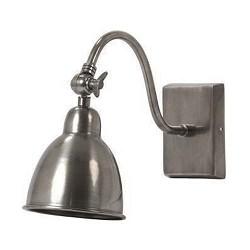 Antiek zilveren wandlamp/bedlamp Ulster