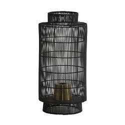 Lantaarn tafellamp Gruaro zwart draad