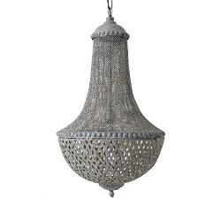 Antieke kroon-hanglamp Angelique metaal