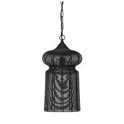 **Zwarte hanglamp draad oosters hal
