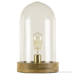 Tafellamp Celebes helder glas/hout