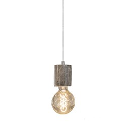 *Bruin marmer pendellamp Light & Living