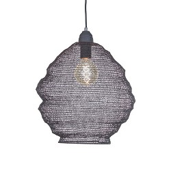 Metalen hanglamp Light Living grijs Nina