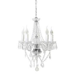 **Klassieke glazen kroonluchter-hanglamp