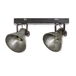 Stoere metalen plafondspot-plafondlamp