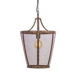 Landelijke hanglamp Vivian roest/bruin