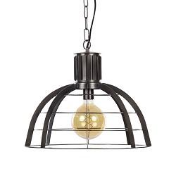 **Industriele metalen hanglamp ribben