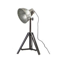 ** Tafellamp Junko zwart/zink