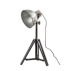 Tafellamp driepoot Junko zwart/zink