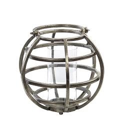 Windlicht-Lantaarn Tila donker metaal