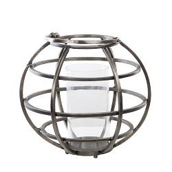 Lantaarn-Windlicht Tila donker metaal