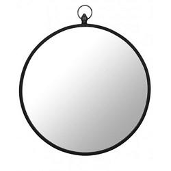 **Ronde spiegel zink groot 62,5 cm