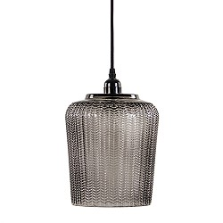 Light & Living hanglamp glas smokey 20cm