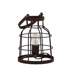 *Tafellamp lantaarn roestbruin klein