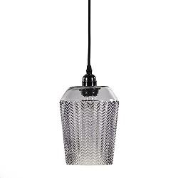 Kleine hanglamp Lorina met grijs glas