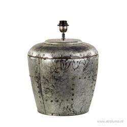 Industriële lampvoet oud metaal excl kap