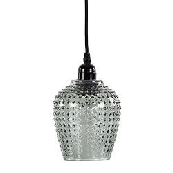 Kleine hanglamp met groen glas