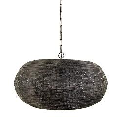 Grote hanglamp rond metaalgrijs