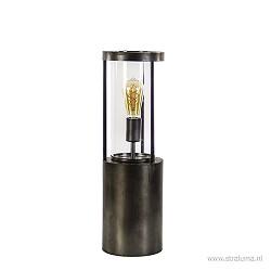 Grote tafellamp-lantaarn met glas