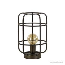 Landelijke tafellamp antiek brons