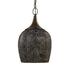 Kleine oosterse hanglamp Kadiri brons