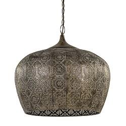 Oosterse hanglamp Emine bruin/goud metaal