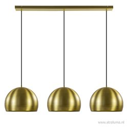 Light en living hanglamp Jaicey 3-L goud