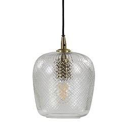 Hanglamp Dyenna 17cm ribglas helder