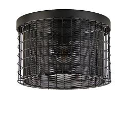 Stoere zwarte  plafondlamp Digo metaal