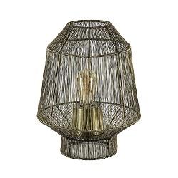 Draad tafellamp Vitora antiek brons