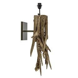 Landelijke wandlamp Bluma hout exclusief kap